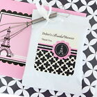 72 Personalized Parisian Paris Theme Hot Cocoa Mix Pouches Wedding Favors