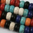 5x Howlite Turquoise Loose Stone European Beads Fit Charms Bracelet Jewelry DIY