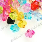 400pcs Acrylic Plastic Bicone Faceted Charm Spacer Beads Wholesale Lots 4x3x3mm