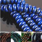 Strand 5x8mm Picasso Jasper Blue Gold Sand Gemstone Abacus Rondelle Loose Beads