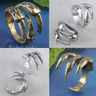 Punk Cool Mens Womens Antique Bronze Silvery Eagle Owl Claw Talon Finger Ring FB