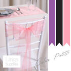 "1 Organza Chair Cover Sash Bow 6x108""/15x275cm Wedding Party Venue Decorations"