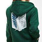 Attack on Titan Scouting Legion Cosplay Hoodie Jacket Mens Ladies Designer Hoody