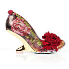 Irregular Choice Missing Link Womens New Red Floral Party Prom Shoes