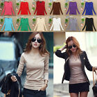 Fashion Women V-neck Casual Long Sleeve T-Shirt Cotton Tops Blouse Shirts Tee K#