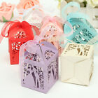 12/60pcs Bridal Candy Ribbon Bomboniere Boxes Wedding Party Shower Favors Gift