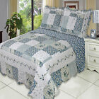 Brea Oversize Coverlet Set, Luxury Microfiber Quilt by Royal Hotel