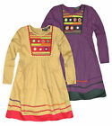 Girls Stitched Aztec Print Long Sleeved Dress New Kids Dresses Ages 2-10 Years