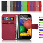 New Leather Flip Wallet Case Cover For MOTOROLA MOTO G Free Screen Protector