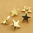 30Pcs Gold/Silver Novelty Star Shank Button Metal For Sewing Or Embellishments