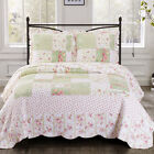 Upland Oversize Reversible Printed Quilt Coverlet Floral Patchwork Wrinkle Free image