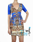 Sexy Blue Paisley Half Sleeve Short Summer Dress S-XL