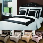LUXURY Hotel 5 Piece Duvet Covers and Shams 100% Cotton Set SUPER ELEGANT  image