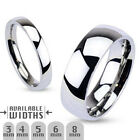 3mm Glossy Mirror Polished Traditional Wedding Band Ring 316L Stainless Steel