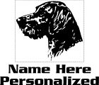 Customized German Wirehair Pointer Decal GWP Decal Pet stickers 4006P