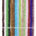 Strand 4x6mm Crystal Glass Faceted Rondelle Loose Beads For Jewelry Findings DIY