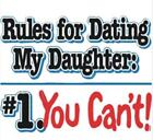 BRAND NEW RULES FOR DATING MY DAUGHTER T-Shirts Small to 5XL BLACK or WHITE