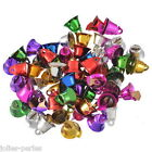 30PCs Colorful Christmas Ringing Jingle Bell Beads XMAS Charms Pendant Craft