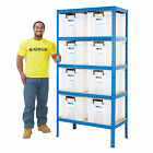 Value Garage Shelving Storage Box Kits Heavy Duty Shelves 36 Litre Boxes BiGDUG