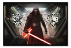 Framed Star Wars Episode 7 The Force Awakens Kylo Ren & Stormtroopers Poster New £29.95 GBP