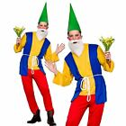 Funny Gnome Mens Fancy Dress Costume Smurf Novelty Adults Outfit S-xl