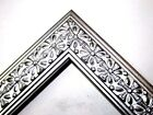 "1.25"" Metallic Silver Cross Wood Picture Frame-Custom Made Standard Sizes"