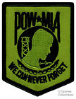 POW-MIA EMBROIDERED PATCH iron-on VIETNAM WAR new GREEN Prisoner of War Emblem