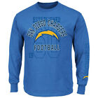 "Majestic NFL San Diego Chargers ""Power Technique"" Mens T-shirt"