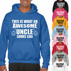 THIS IS WHAT AN AWESOME UNCLE LOOKS LIKE ADULT HOODIE - GIFT UNISEX HOOD
