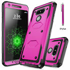Slim Hybrid Impact Rugged Rubber Shockproof Hard Armor Case Cover for LG G3 G4
