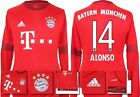*15 / 16 - ADIDAS ; BAYERN MUNICH HOME SHIRT LS / ALONSO 14 = SIZE*
