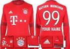 *15 / 16 - ADIDAS ; BAYERN MUNICH HOME SHIRT LS / PERSONALISED = SIZE*
