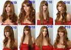 AUBURN GINGER Long Wavy Straight Ladies Wig Fashion costume Halloween Heat OK
