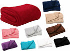 Super Ultrasoft Coral Fleece Blanket Bed Sofa Throwover Sofa Cover 140x180cms