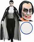 Man Of House Mens Vampire Dracula Halloween Fancy Dress Costume Wig Face Paint