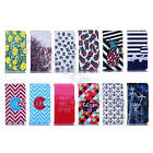 For Samsung Popular Synthetic Leather Magnetic Case Stripes Stand Card Cover#A01