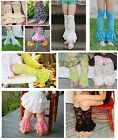 LACE LEG WARMERS Baby Girls Legging Ruffle Great W/ Rompers Pettiskirts Dance