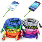 1/2/3M Strong Braided Micro USB Charger Cable Lead for Android Cell Phone