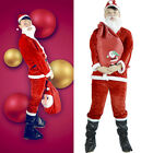Lovely Santa Claus Costume Adult Crimson Suit Christmas Fancy Suit Gift Bag