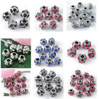 5x Tibet Silver Muliticolor Crystal Ball Bead For Charm Snake Chain Bracelet