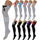 Ladies Over the Knee Socks Thigh High Thick with Bow Like Stockings Storybook