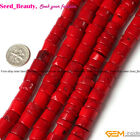 "Fashion Jewelry Making13-14mm12x16mm Column Red Coral Gemstone Beads15"" SD3408-V"