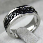 Fashion Spinner Chain Ring Men's Ring Rock Stainless Steel Chain Mens Jewelry WB