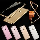 Shockproof Silicone/Rubber Metal Bumper Clear Case Cover For iPhone 6 6s 6s+ 6+