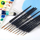 10 Kind Marie's Weasel Liner Brushes Round Paint Brush Art Optional Crafts Draw