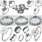 Size 6-9 Fashion Woman Fine Silver Engagement Wedding Ring Genuine 925 Jewelry