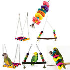 Pet Bird Parrot Parakeet Budgie Cockatiel Cage Hammock Swing Hanging Chew Toy