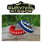 Survival Straps Paracord Bracelet Adjustable Shackle - All Sizes Made In America
