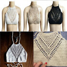 Vogue Women Knitted Crop Top Crochet Bikini Bralette Bra Beach Boho