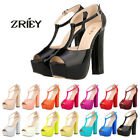 ZriEy Women Open Toe High Heels Platform Ankle Strappy Sandals Party Wedge Shoes